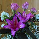Perfumed Purple Lilies and Roses by SunriseRose