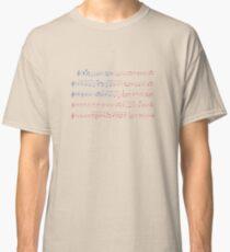 Camiseta clásica Hoja de música de Star Spangled Banner Bandera de Estados Unidos