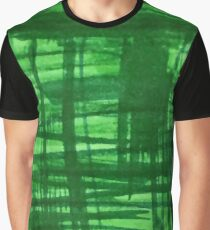 Green Strokes Graphic T-Shirt
