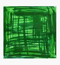 Green Strokes Photographic Print