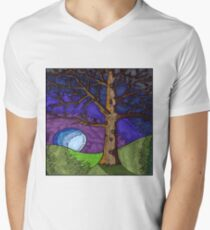 Tree Brown Men's V-Neck T-Shirt
