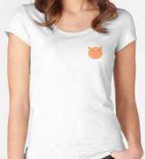 Happy Cat Women's Fitted Scoop T-Shirt