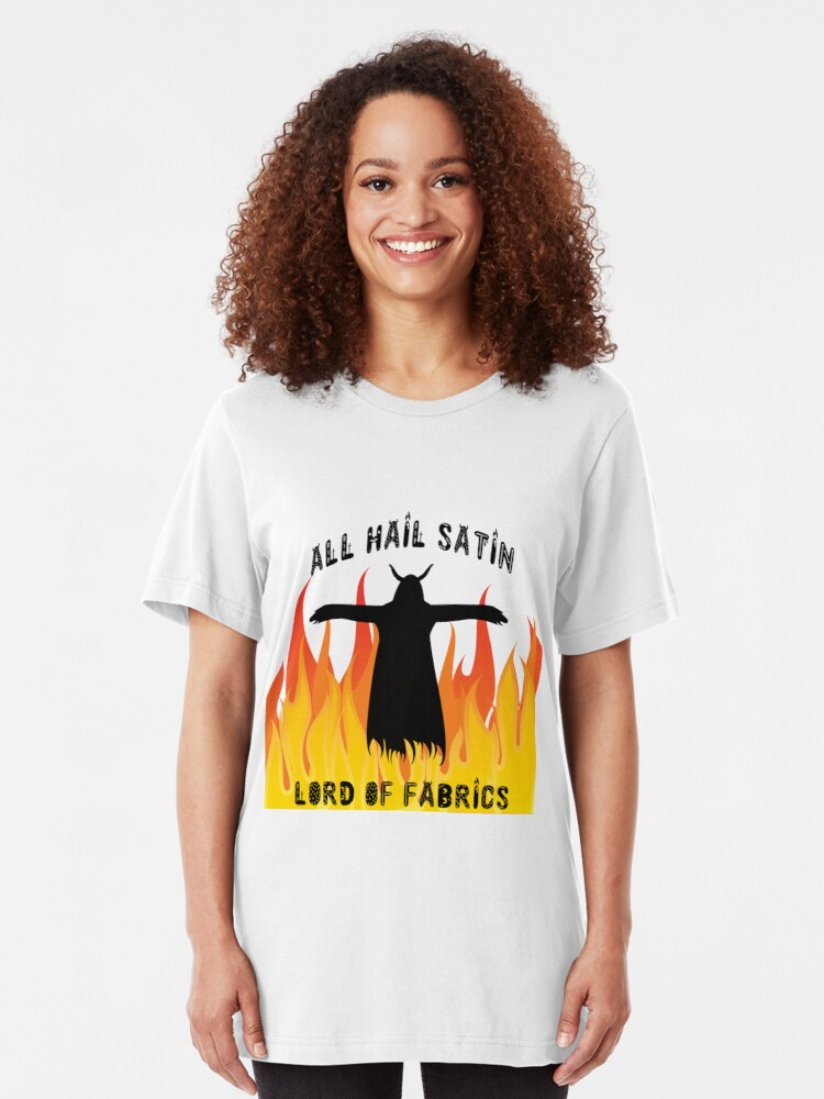 Alternate view of All Hail Satin Lord of Fabrics Slim Fit T-Shirt