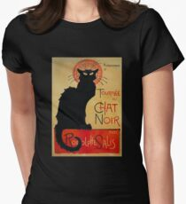 'Tournee du Chat Noir' by Theophile Steinlen (Reproduction) Women's Fitted T-Shirt