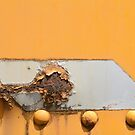 Rusted Parallelogram on yellow by Merrimon