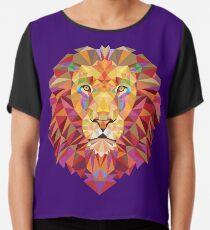 Geometrischer Löwe Chiffontop