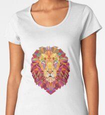 Geometric Lion Women's Premium T-Shirt