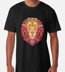 Camiseta larga León geométrico