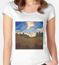 Wheat Field Women's Fitted Scoop T-Shirt