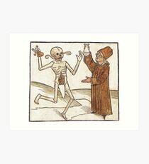 Médecine Moyen-Age Art Print