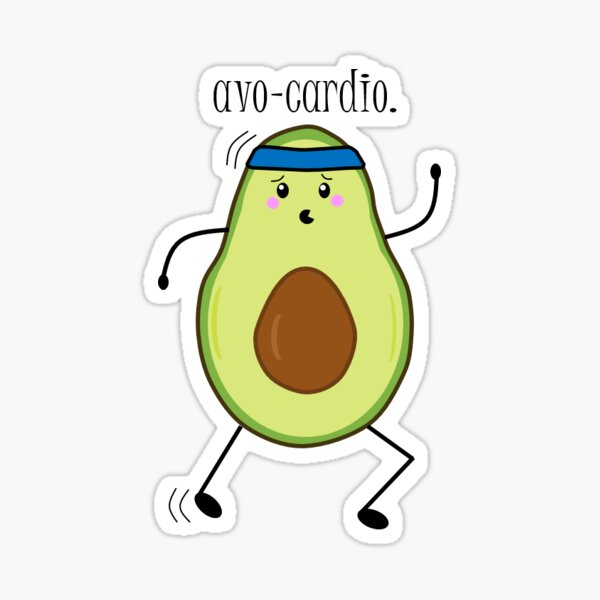 Avo-cardio Sticker