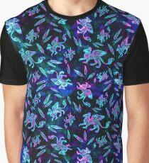 Gryphon Batik - Jewel Tones Graphic T-Shirt