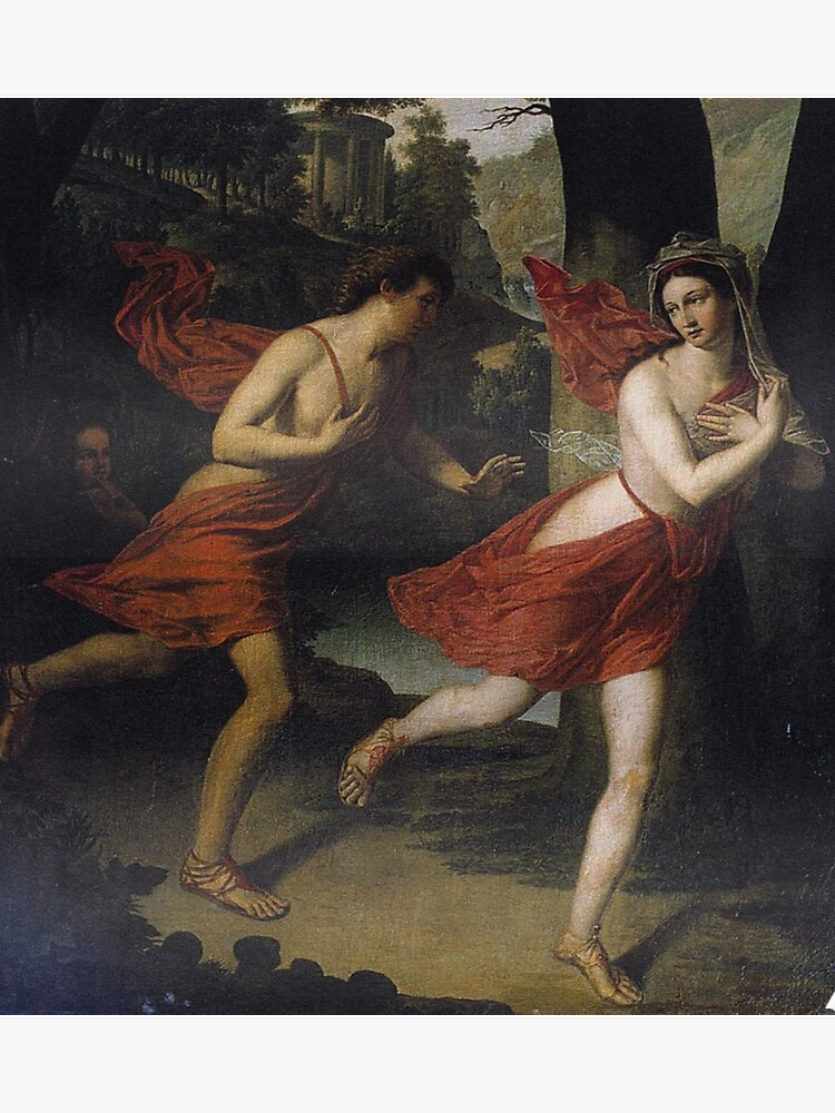 daphne fleeing from apollo - robert lefevre painting | Poster