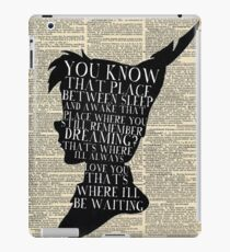 Peter Pan Vintage Dictionary Page Style -- That Place iPad Case/Skin
