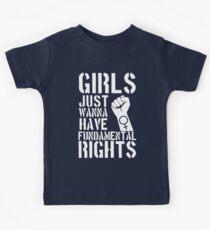 Girls just wanna have fundamental rights. Kids Tee