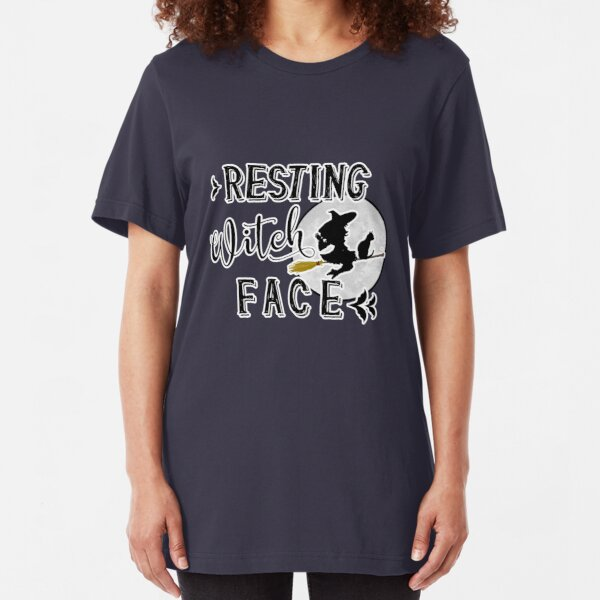 resting witch face Slim Fit T-Shirt