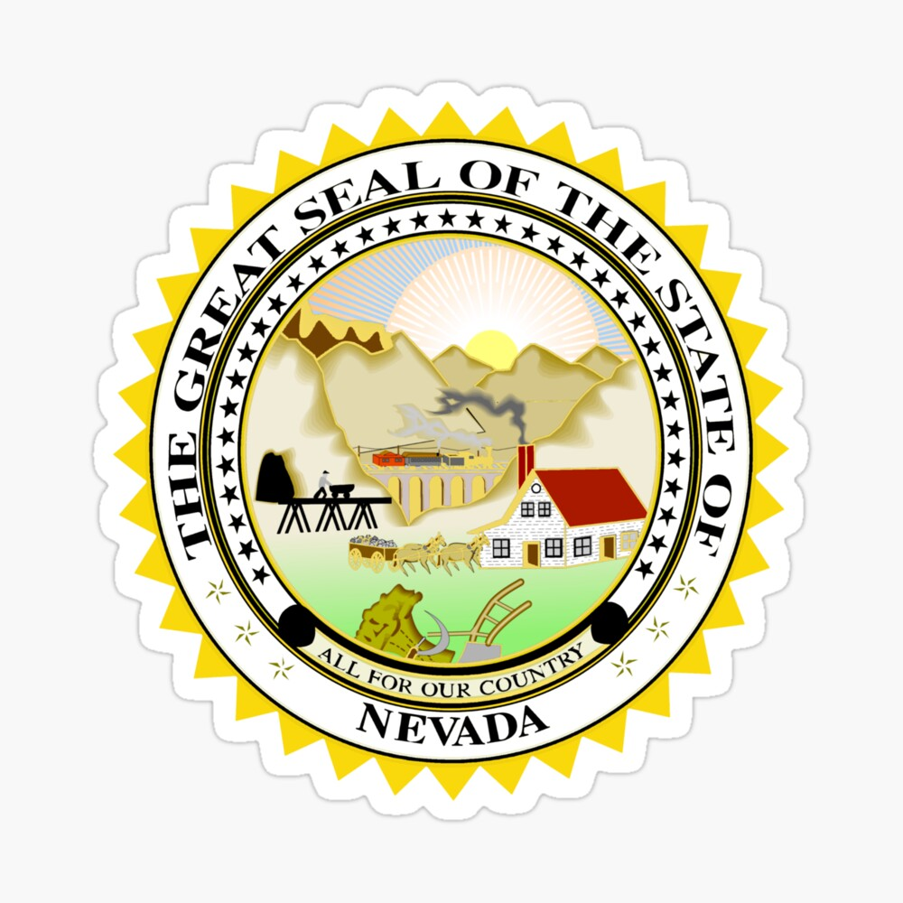 State Seal Nevada Poster By Bankrobbergus Redbubble