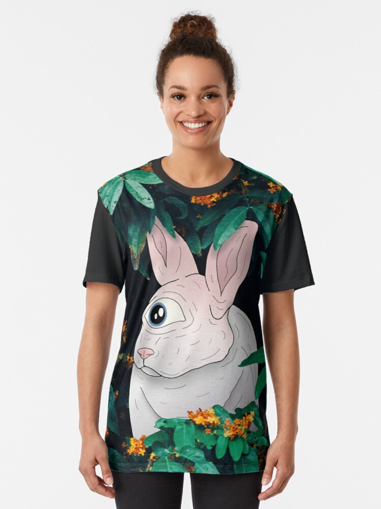 Alternate view of Bunny Graphic T-Shirt