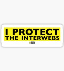 Protect the Interwebs Sticker