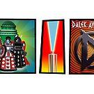 Hero Dalek Strip Mug by ToneCartoons