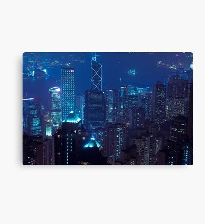 Hong Kong Viewed from the sky Canvas Print