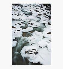 pancake ice , near Whistler , British Columbia Photographic Print