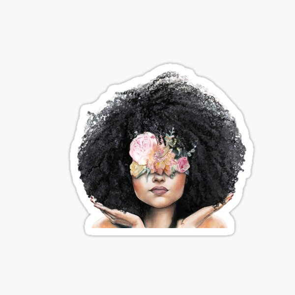 Fro and Flowers Sticker