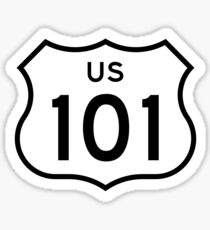 US Highway 101 (1961 cutout) | United States Highway Shield Sign Sticker