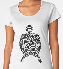 Graphique de nuage de mots de Jiu Jitsu brésilien T-shirt premium femme