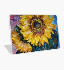 Diese Sonnenblume aus dem Sonnenblumenstaat von OLena Art - Brand Laptop Folie