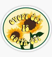 Pegatina ¡todos los dias es el día de la Tierra!