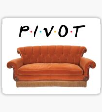 Friends Pivot Quote and Couch Sticker