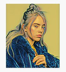 Billie Eilish Painting (Yellow) Photographic Print