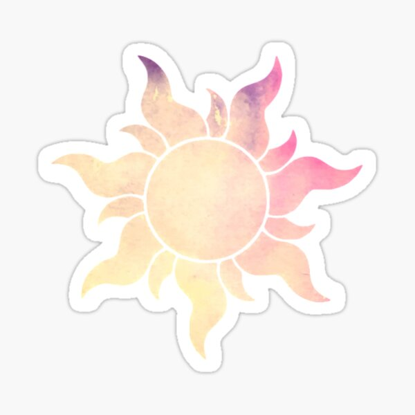 Yellow to Pink Sun Sticker