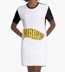 Hufflepunk Banner Graphic T-Shirt Dress