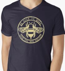 Save The Bee Society Men's V-Neck T-Shirt
