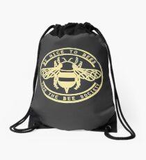Save The Bee Society Drawstring Bag