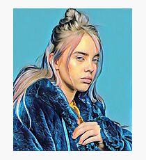 Billie Eilish Painting (Blue) Photographic Print
