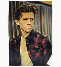 Tom Holland Modeling Painting Poster