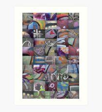 50 Graffiti Macros Art Print