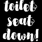 TOILET SEAT DOWN! by jazzydevil
