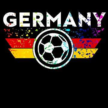 Germany Soccer Jersey Shirt Deutschland Paint Splatter Distressed   by 7United