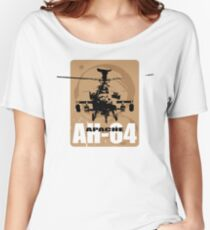 AH-64 Apache Helicopter Women's Relaxed Fit T-Shirt
