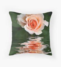 Peach Ripple Throw Pillow