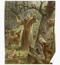St. Francis of Assisi Preaching to the Animals Poster