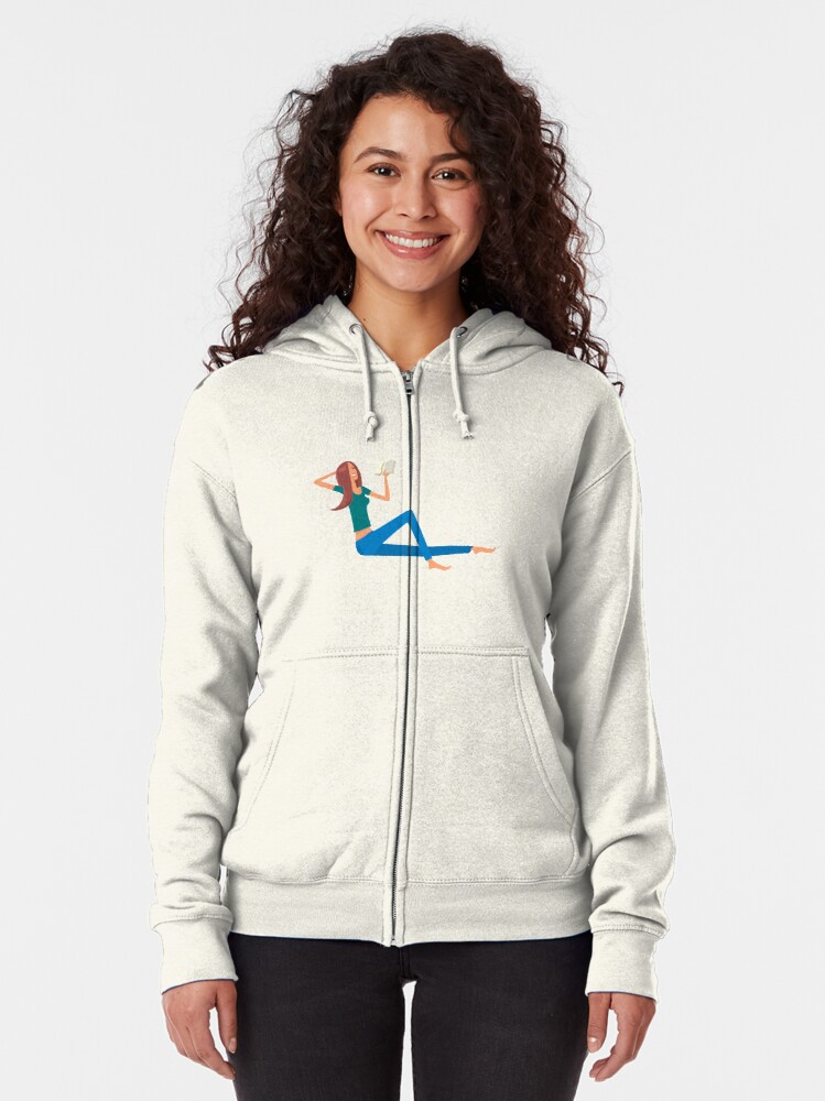 Alternate view of Good Book and young girl Zipped Hoodie