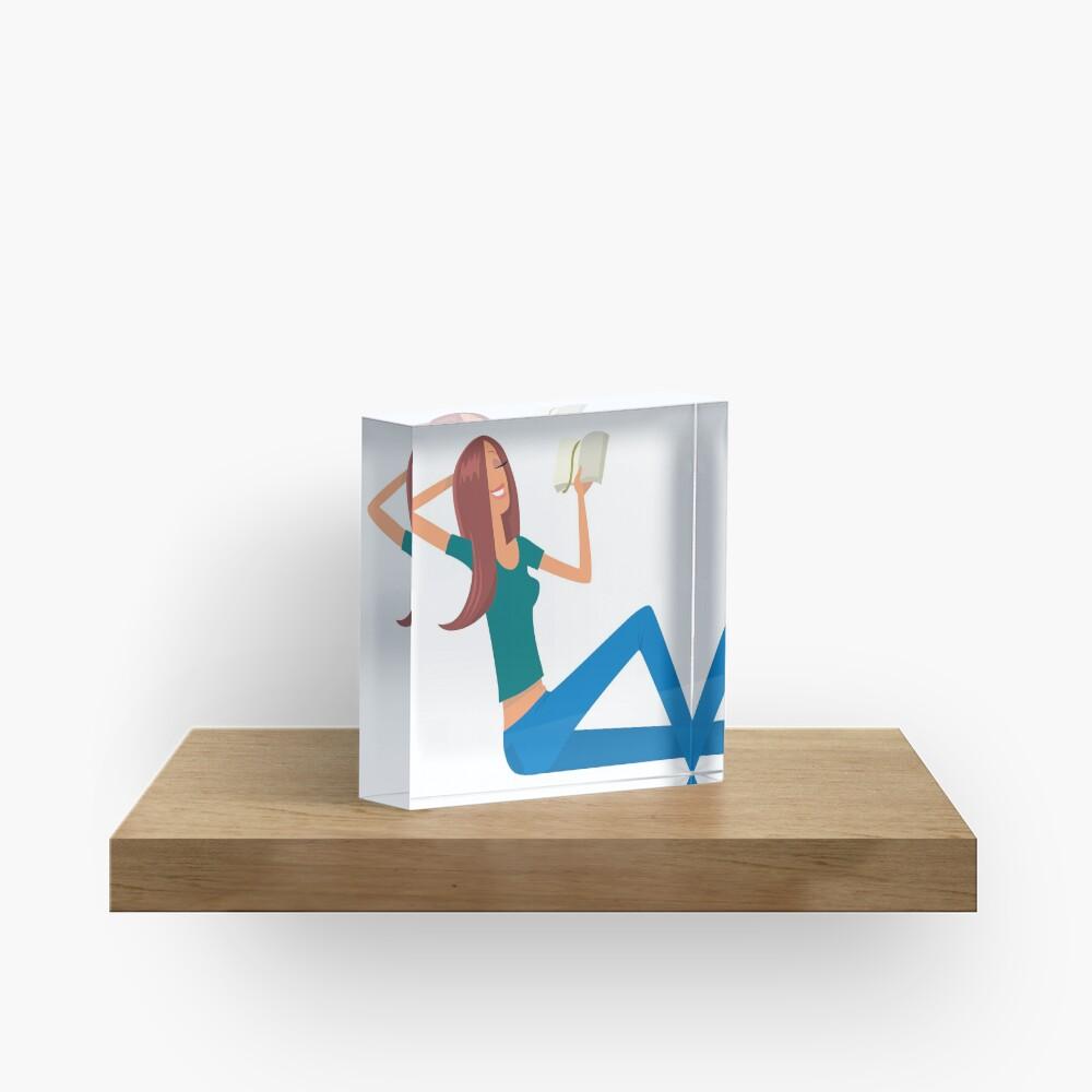 Good Book and young girl Acrylic Block