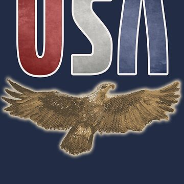 USA Eagle Patriotic Red White and Blue Shirt Flying Eagle by Archpress