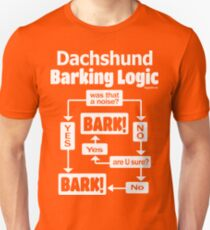 Dachshund Barking Logic Unisex T-Shirt