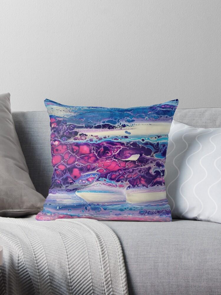 « Peinture originale rose & violet » par audrey chal